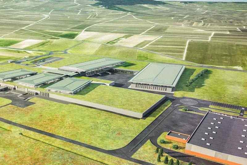 Cical vue aérienne chantier usine industrielle