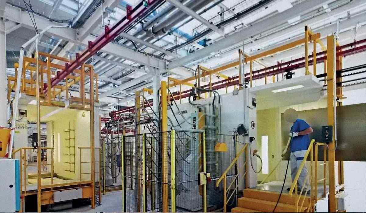 Cical usine clestra chaîne de production